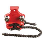 Ridge Tool Company Bottom Screw Bench Chain Vises, 1/8 in - 4 in Pipe Cap, 1/EA, #40180