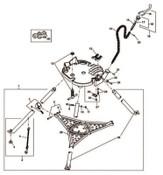 Ridge Tool Company 450 Tristand Chain Vise Crank Handles, Handle, 1/EA, #41015