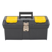 Stanley Products Series 2000 Tool Box, 16 in x 7 in x 8 in, Black/Yellow, 6/EA, #016013R