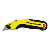 Stanley Products FATMAX Retr Utility Knife, 6-5/8 in L, Carbon Steel, Metal/Rubber, Blk/Yel, 1/EA, #10778