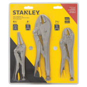 Stanley Products 3 pc Locking Plier Sets, Long Nose/Curved Jaw/Straight Jaw, 2/ST, #94960