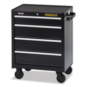 Stanley Products 300 Series Rolling Tool Chest, 26 in, 4-Drawer, Black, 1/EA, #STST22744BK