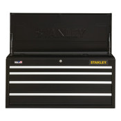 Stanley Products 300 Series Top Tool Chest, 41 in Wide, 4-Drawer, Black, 1/EA, #STST24044BK