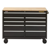 Stanley Products 300 Series Mobile Work Bench, 41 in, 7-Drawer, Black, 1/EA, #STST24174BK