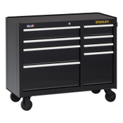Stanley Products 300 Series Rolling Tool Cabinet, 8-Drawer, 41 in, Black, 1/EA, #STST24181BK