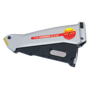 L.S. Starrett Hidden Edge Utility Knives, 6 1/2 in, Utility Steel Blade, Aluminum, Silver, 1/EA, #67584