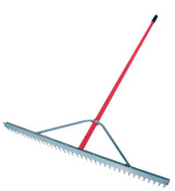 The AMES Companies, Inc. Landscape Rake, 66 in Aluminum Handle, 36 in Head, 1/EA, #63000