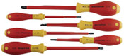 Wiha Tools Insulated Tool Sets, Phillips; Slotted, Metric, 6 per set, 1/SET, #32092