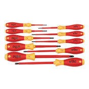 Wiha Tools Insulated Tool Sets, Phillips; Slotted, Metric, 10 per set, 1/ST, #32093