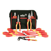 Wiha Tools Insulated Pliers, Cutters, Screwdrivers and Nut Drivers 13 Piece Sets, 1/ST, #32894