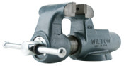 JPW Industries Mechanics Vises, 3 1/2 in Jaw, 2 3/4 in Throat, Stationary Base, 1/EA, #10066