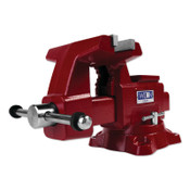 JPW Industries Utility Bench Vise, 6-1/2 in Jaw Width, 4 in Throat Depth, 360° Swivel, 1/EA, #28820