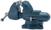 JPW Industries Combination Pipe & Bench Vise, 3-1/2 in Jaw, 4-1/2 in Throat, Swivel Base, 1/EA, #28825