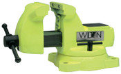 JPW Industries High Visibility Safety Vises, 5 in Jaw, 3 3/4 in Throat, Swivel Base, 1/EA, #63187