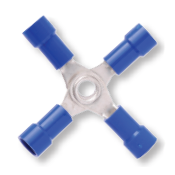 16-14 AWG Non-Insulated w/ 4-Way Splice Connectors - Bare Butted Seam (100/Pkg.)