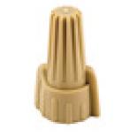 22-8 AWG Tan Finger Twist Grip Connector (100/Pkg.)
