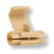 18-14 AWG Import White Instant Tap w/ Wire Stop - White (1000/Bulk Pkg.)