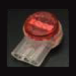 19-26 AWG Insulated Displacement Connector - Max OD: 1.67mm - Red (100/Pkg.)