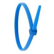 """Slimline Cable Tie 4"""" x .140""""- 18lb. - Blue (100/Pkg.)"""