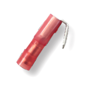 22-18 AWG .250 3-Pc Stud Fully Insulated Nylon Insulated Piggyback Connectors (100/Pkg.)