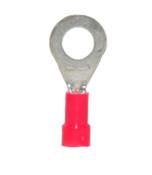 """22-18 AWG Nylon Insulated 5/16"""" Stud Ring Terminal - Brazed Barrel (100/Pkg.)"""
