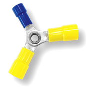 12-10/12-10/16-14 AWG Nylon Insulated w/ Sleeve 3-Way Splice Connectors - 12-10 (2) & 16-14 (1) (100/Pkg.)