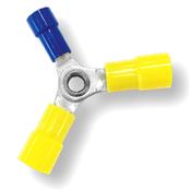 12-10/12-10/16-14 AWG Nylon Insulated w/ Sleeve 3-Way Splice Connectors - 12-10 (2) & 16-14 (1) (1000/Bulk Pkg.)