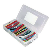160 PC Multi-Color - Black, Blue, Clear, Green, Red, White, Yellow Heat Shrink Tubing 2:1 Box Kit