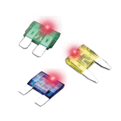 25 Amp LED Mini Blade Fuse - Clear (100/Pkg.)