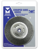 """Crimped Wire Wheels for Right Angle Grinders - Carbon Steel - 4"""" x 1/2"""" x 5/8"""" -11, Mercer Abrasives 187010 (1/Pkg.)"""