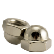 M6-1.00 Metric Stainless Steel A2-70 Hex Domed Acorn Nuts DIN 1587 Coarse (100/Pkg.)