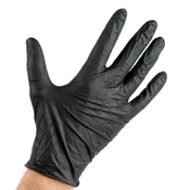 Lavex Industrial Nitrile 6 Mil Powder-Free Textured Disposable Gloves - Medium, Black (100/Box)