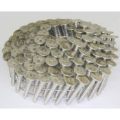 """15° Wire Collated Stainless Steel (304) Ring Shank Roofing Nails, 1-1/2"""", 3600 Nails/Carton"""