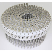 """15° Plastic Collated Stainless Steel (304) Plain Shank Fiber Cement Siding Nails, 2-1/2"""", 3200 Nails/Carton"""