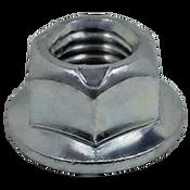M12-1.75 Coarse Metric Class 10 Hex Flange Metal Top Locknut, DIN 6927, Zinc Cr+3 (700/Bulk Pkg.)