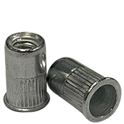 10-24 (.020-.130) Aluminum Small Flange Knurled Body Rivet Nuts (500/Pkg.)