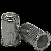10-32 (.020-.130) Aluminum Small Flange Knurled Body Rivet Nuts (8000/Bulk Pkg.)