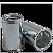 1/4-20 (.030-.165) Steel Small Flange Smooth Body Rivet Nuts Zinc CR+3 (5000/Bulk Pkg.)