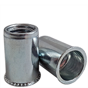 10-32 (.020-.130) Steel Small Flange Smooth Body Rivet Nuts Zinc CR+3 (10000/Bulk Pkg.)