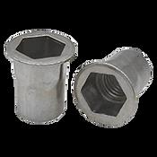 1/4-20 UNC (.027-.165) Aluminum 5056 Hex Rivet Nuts Plain (Inch) (500/Pkg.)