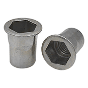 10-24 UNC (.130-.225) Aluminum 5056 Hex Rivet Nuts Plain (Inch) (1000/Pkg.)