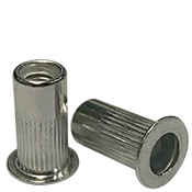 1/4-20 (.165-.260) Aluminum Large Flange Knurled Body Rivet Nuts (1000/Pkg.)