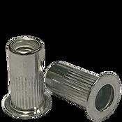 1/4-20 (.165-.260) Aluminum Large Flange Knurled Body Rivet Nuts (2500/Bulk Pkg.)