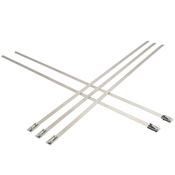 "0.18""X 11.8"" 100 lb. Proferred Bead Self-Locking 304 Stainless Steel Ties (50/Pkg.)"
