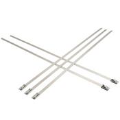 "0.18""X 7.9"" 100 lb. Proferred Bead Self-Locking 304 Stainless Steel Ties (50/Pkg.)"