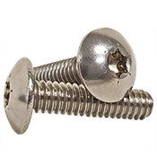 "#10-24x1/2"" (Fully Threaded) Stainless Steel T20 Drive Size 6-Lobe Truss Head Machine Screws A2 (18-8) (3000/Bulk Pkg.)"
