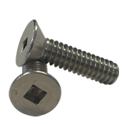 """#10-24x1"""" (Fully Threaded) Stainless Steel Machine Screws Square Flat Head A2 (18-8) (1000/Pkg.)"""