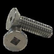 "#10-24x1"" (Fully Threaded) Stainless Steel Machine Screws Square Flat Head A2 (18-8) (3000/Bulk Pkg.)"