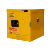 "Durham Mfg Heavy-Duty Steel Flammable Storage Cabinet, 2 Gallon, 1 Door, Self Close, 1 Shelf, Safety Yellow, 17-3/8""W x 18-1/8""D x 18-3/8""H, Yellow, DM-1002S-50 (1/Ea)"