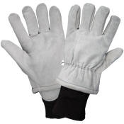Heavy Gray Split Cowhide Leather Freezer Gloves with Cold Keep® Insulation- Size 9(L) 24ct./12 pair